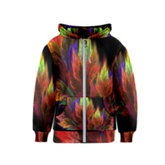 Abstract Digital Art Fractal Kids  Zipper Hoodie