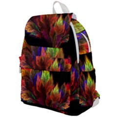 Abstract Digital Art Fractal Top Flap Backpack