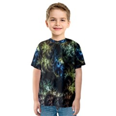 Abstract Digital Art Fractal Kids  Sport Mesh Tee