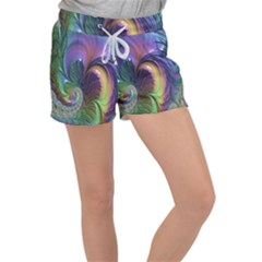 Fractal Artwork Art Swirl Vortex Women s Velour Lounge Shorts