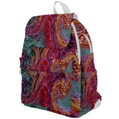 Color Rainbow Abstract Flow Merge Top Flap Backpack