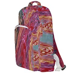 Color Rainbow Abstract Flow Merge Double Compartment Backpack