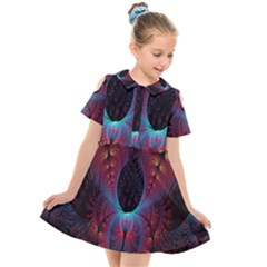 Abstract Abstracts Geometric Kids  Short Sleeve Shirt Dress