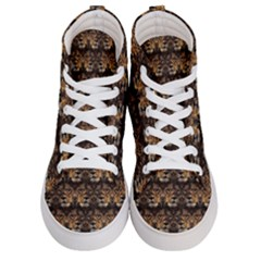Lion Face Women s Hi Top Skate Sneakers