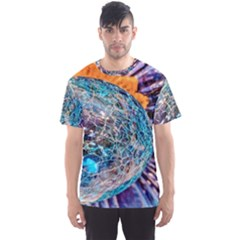 Multi Colored Glass Sphere Glass Men s Sports Mesh Tee