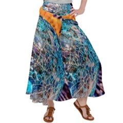 Multi Colored Glass Sphere Glass Satin Palazzo Pants by Sudhe