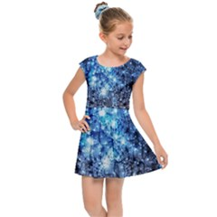 Abstract Fractal Magical Kids  Cap Sleeve Dress