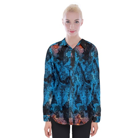 Abstract Fractal Magical Womens Long Sleeve Shirt by Sudhe