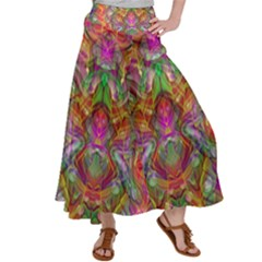 Background Psychedelic Colorful Satin Palazzo Pants by Sudhe