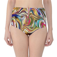 Wallpaper Psychedelic Background Classic High Waist Bikini Bottoms