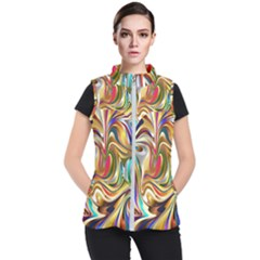Wallpaper Psychedelic Background Women s Puffer Vest