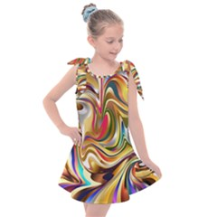 Wallpaper Psychedelic Background Kids  Tie Up Tunic Dress