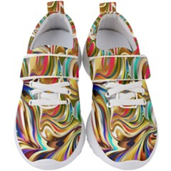 Wallpaper Psychedelic Background Kids  Velcro Strap Shoes