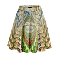 Abstract Fractal Magical High Waist Skirt by Sudhe