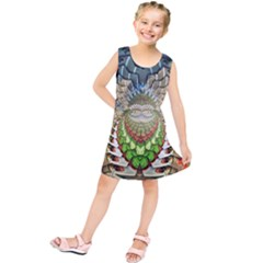 Abstract Fractal Magical Kids  Tunic Dress by Sudhe