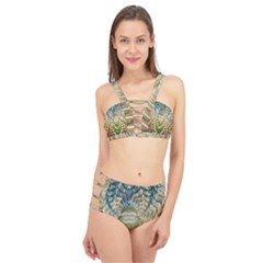 Abstract Fractal Magical Cage Up Bikini Set