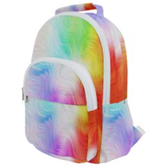 Psychedelic Background Wallpaper Rounded Multi Pocket Backpack