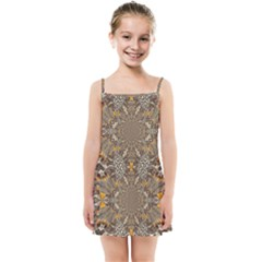 Abstract Digital Geometric Pattern Kids  Summer Sun Dress