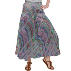 Psychedelic Background Satin Palazzo Pants by Sudhe