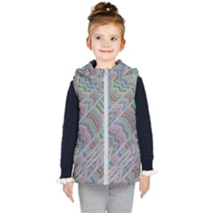 Psychedelic Background Kids  Hooded Puffer Vest