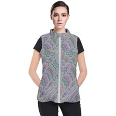 Psychedelic Background Women s Puffer Vest