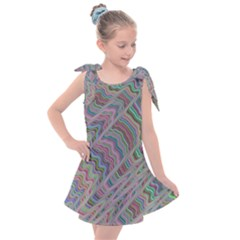Psychedelic Background Kids  Tie Up Tunic Dress