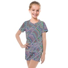 Psychedelic Background Kids  Mesh Tee And Shorts Set by Sudhe