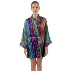 Background Wallpaper Psychedelic Long Sleeve Kimono Robe