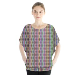 Psychedelic Background Wallpaper Batwing Chiffon Blouse
