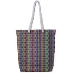 Psychedelic Background Wallpaper Full Print Rope Handle Tote (small)