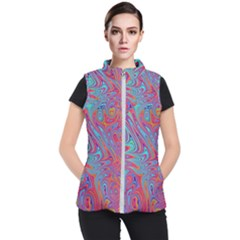 Fractal Bright Fantasy Design Women s Puffer Vest