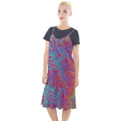 Fractal Bright Fantasy Design Camis Fishtail Dress by Sudhe