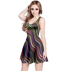 Psychedelic Background Wallpaper Reversible Sleeveless Dress