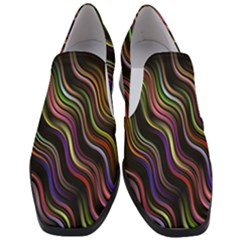 Psychedelic Background Wallpaper Slip On Heel Loafers