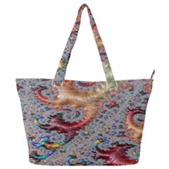 Fractal Artwork Design Pattern Full Print Shoulder Bag