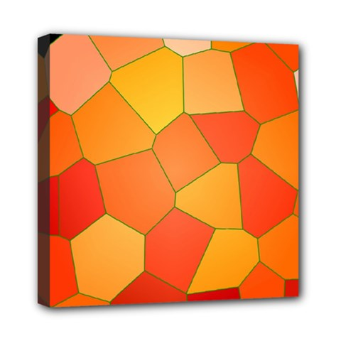 Background Pattern Of Orange Mosaic Mini Canvas 8  X 8  (stretched)