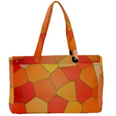 Background Pattern Of Orange Mosaic Canvas Work Bag