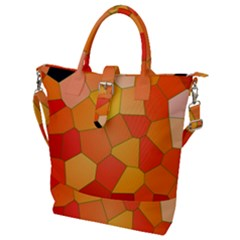 Background Pattern Of Orange Mosaic Buckle Top Tote Bag by Sudhe