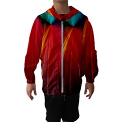 Background Color Colorful Rings Hooded Windbreaker (kids)