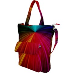 Background Color Colorful Rings Shoulder Tote Bag