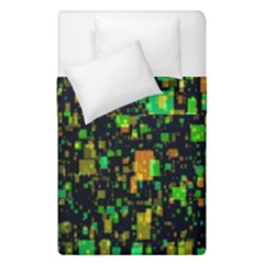 Squares And Rectangles Background Duvet Cover Double Side (single Size)