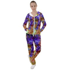 Splashes Of Color Background Women s Tracksuit