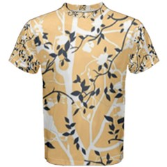 Floral Pattern Background Men s Cotton Tee