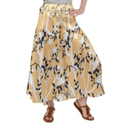 Floral Pattern Background Satin Palazzo Pants by Sudhe