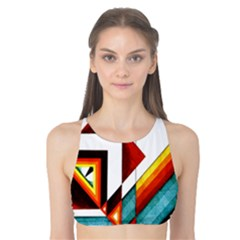Diamond Acrylic Paint Pattern Tank Bikini Top by Sudhe