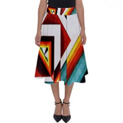 Diamond Acrylic Paint Pattern Perfect Length Midi Skirt