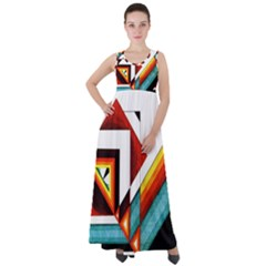 Diamond Acrylic Paint Pattern Empire Waist Velour Maxi Dress by Sudhe