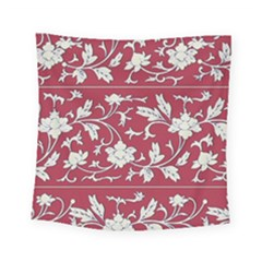 Floral Pattern Background Square Tapestry (small) by Sudhe