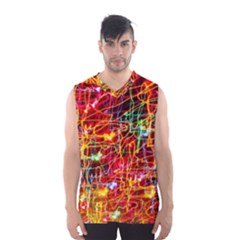Random Colored Light Swirls Men s Basketball Tank Top