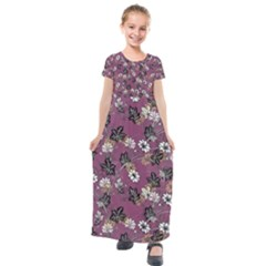 Beautiful Floral Pattern Background Kids  Short Sleeve Maxi Dress by Sudhe
